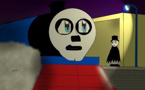 Hank the Halloween Engine by Trurotaketwo