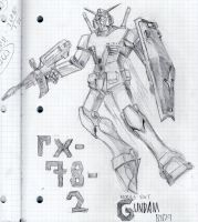 The RX-78-2 Gundam by katiewhy