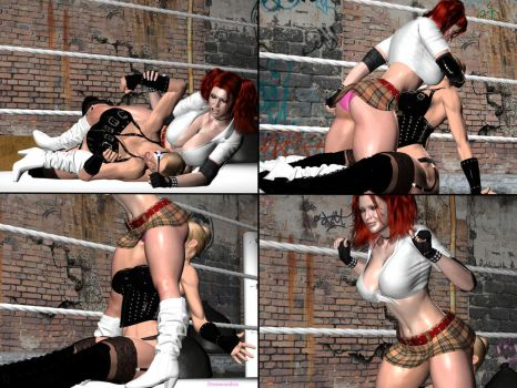 Rumble Roses. Candy Cane Versus Mistress 11 by DreamCandice