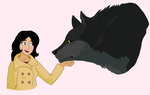 :Fables comics: Snow and wolf Bigby by Singerwolf