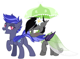 Jasmine and Night Watch Bat Ponies by VectorVito