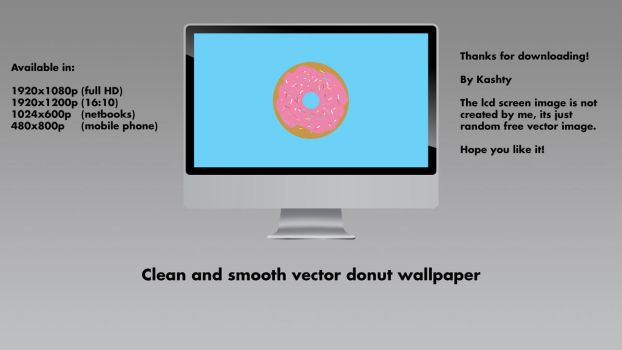 Donut vector simple wallpaper by kashty