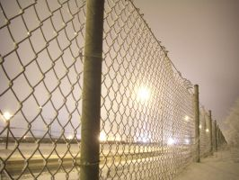 Frost Covered Fence by BlueFlame74