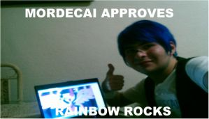 Mordecai Approves Rainbow Rocks by brandonale