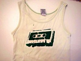 Cassette Tape Tank Top by floating-goat1234
