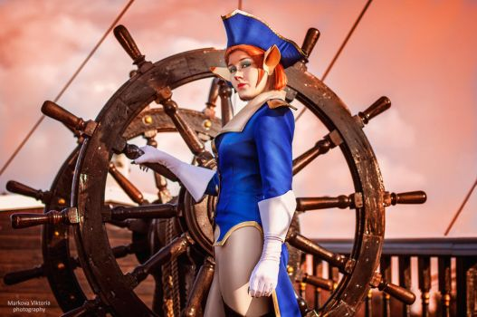 Captain Amelia ,Treasure Planet by QWER93