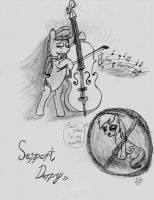 Octavia tribute to censored Derpy by lefthoovesdash