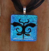 Art Nouveau Dragonfly Glass by FusedElegance