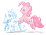 Snowy and Pinkie by Astral-Agonoficus