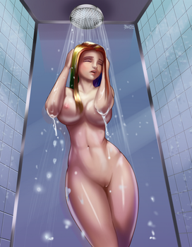 Art trade: Hit the showers by jay156