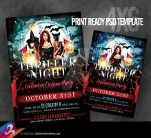 Thriller Night Flyer Template by AnotherBcreation