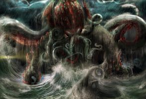 Cthulhu Rises! by kaber13