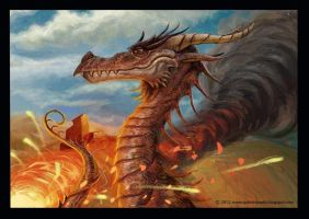 Lord of the rings - Smaug test by gabrieldnc
