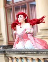 Ariel the little mermaid - pink ball gown by flockenschnitte