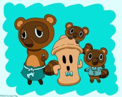 Tom Nook And Buddies by tie-dye-flag