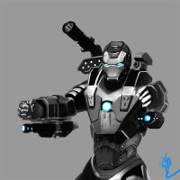 Iron Man-War Machine by ajsdo222