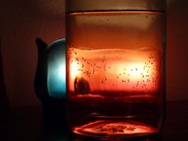 candles and water by foodshelf