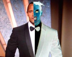 Dwayne Johnson as Two-Face by Wessel