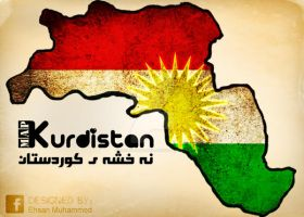 kurdistan map by ehsanmuhammed