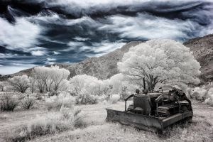 Derelict Tractor - Blue Version by eprowe