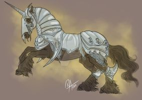 Commission: Armored Horse 4 by Darya87