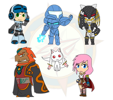 Assorted Chibis - The Greatest Evil by Dragon-FangX