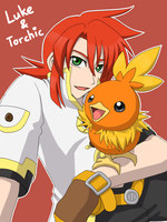 Xover - Luke and Torchic by Akiyama-Lhant