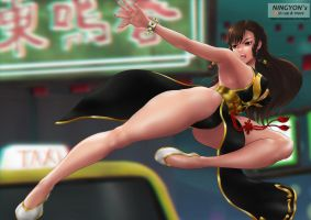 Chun Li FIGHT by NaaN-AnA