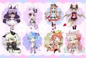 [2 LEFT] Heartdoll and Hanamimi guest artist batch by Valyriana