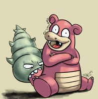 80: Slowbro by Mabelma