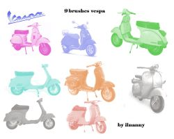 vespa brushes pack by ilnanny