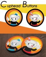 Cuphead - 1.5 inch buttons by OddPenguin
