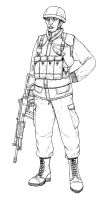 Generic Infantryman by linseed