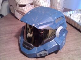 Completed Halo Reach Blue Noble Six Helmet by ZombieGrimm