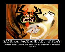 Samurai Jack and Aku at play! by timbox129