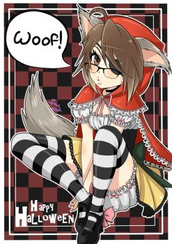 Red Riding WOOF!! (3rd halloween pic) by SpookyPandaGirl