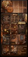 SteamPunk Rooms backgrounds by moonchild-ljilja