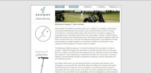 Segway pSeries Site Design by VirtueDesign