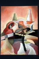 Of Drawing Cubist a Skull Cow by TheArtHobo