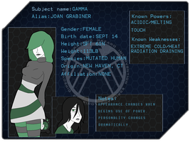 MARVEL: Gamma Profile by KestrelPhantomWitch