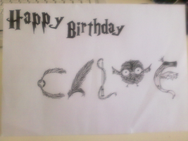 Birthday Card for Chloe by Harry-Potter-Addict