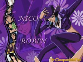 Wallpaper of Nico Robin by GueparddeFeu