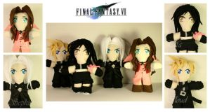 Chibi Plush Figurines- FF7 by pheleon