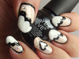 Nude Sparkle With Black And White. by Ithfifi