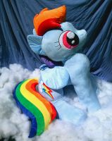FOR SALE - Lifesize Rainbow Dash (Over 4 ft Tall!) by sockfuzzy