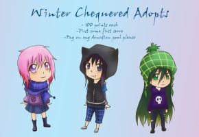 Winter Chequered Adopts (closed) by monochromatic-cafe