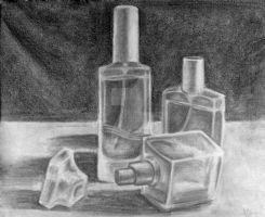 Perfume bottles by TehLissness