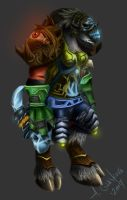 .Female Tauren Shaman. by ShadeHuntress