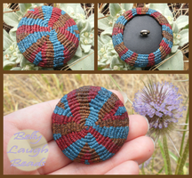Tribal Macrame Button by BellyLaughBeads