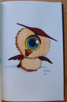 Inktober-Day 25: Baby cyclops-owl by th55th